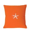 Nantucket Bound Sunbrella Pillow With Embroidered Starfish