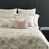 Vera Wang Etched Roses 3 Piece Duvet Cover Set in Beige