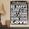 JDS Personalized Gifts Personalized Gift Antique Style Family Rules Textual Art on Canvas