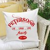 JDS Personalized Gifts Personalized Gift Family II Throw Pillow