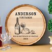 JDS Personalized Gifts Personalized Gift Wine Barrel Home Décor Sign Wall Décor
