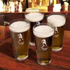JDS Personalized Gifts Personalized Gift Sport Pub Beer Glass (Set of 4)