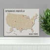 JDS Personalized Gifts Personalized Gift Americana Family Map Graphic Art on Canvas