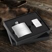 <strong>JDS Personalized Gifts</strong> Personalized Gift Brushed Flask and Zippo Lighter Gift Set