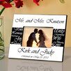 <strong>Personalized Gift Mr. and Mrs. Wedding Picture Frame</strong> by JDS Personalized Gifts