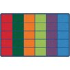 Kids Value Rugs Colorful Rows Seating Area Rug