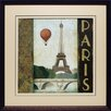 <strong>'City Skyline Paris' by Marco Fabiano Framed Vintage Advertisement</strong> by North American Art