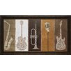 North American Art 'Type Band Neutral Panel' by Michael Mullen Framed Graphic Art