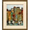 North American Art 'Old Town Port I' by Silvia Vassileva Framed Painting Print
