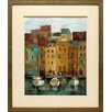 North American Art 'Old Town Port II' by Silvia Vassileva Framed Painting Print