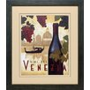 North American Art 'Wine Festival II' by Marco Fabiano Framed Vintage Advertisement