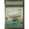 <strong>North American Art</strong> 'Canoe' by Heather McAlpine Framed Painting Print
