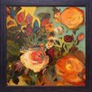North American Art 'Rose Garden II' by Jennifer Harwood Framed Painting Print