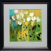 <strong>North American Art</strong> 'White Tulips II' by Jennifer Harwood Framed Painting Print