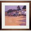 <strong>North American Art</strong> 'Beach Huts' by John Sprakes Framed Painting Print