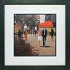 North American Art 'Cafe De La Paix' by Jon Barker Framed Painting Print