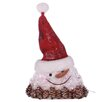 Oddity Inc. LED Snowman Head with Hat Decoration