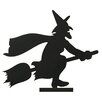 <strong>Oddity Inc.</strong> Wood Witch Riding Broom Silhouette
