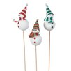 "Oddity Inc. 4"" Snowman Picks (Set of 3)"