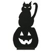 Oddity Inc. Wood Cat and Jack-O-Lantern Silhouette (Set of 2)