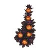 Oddity Inc. Halloween Glitter Pumpkins Maple Candle Climber (Set of 6)