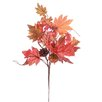 "Oddity Inc. 18"" Fall Pumpkin Maple Leaf Spray (Set of 2)"
