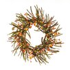 Oddity Inc. Fall Chinese Lantern Rice Berry Wreath