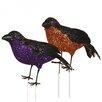 Oddity Inc. Glitter Crow Figurine (Set of 4)