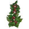 Oddity Inc. Holly Poinsettia Leaves Candle Climber (Set of 6)