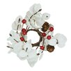 Oddity Inc. Eucalyptus Berry Pinecone Candle Ring (Set of 4)