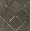 "Bedrosians Ambiance Insert Matrix City 4"" x 4"" Resin Tile in Brushed Nickel"
