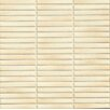 """Bedrosians Shizen Straight Joint 4"""" x 1/2"""" Porcelain Mosaic in Sand"""
