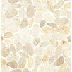 Bedrosians Hemisphere Random Sized Sliced Pebble Stone Polished Mosaic Tile in Fatima Cream