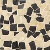 Bedrosians Hemisphere Random Sized Crazy Stone Glazed Mosaic Tile in Island Blend