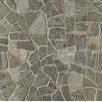 Bedrosians Hemisphere Crazy Stone Unglazed Mosaic Tile in Black Lava