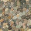 Bedrosians Hemisphere Random Sized Sliced Pebble Stone Glazed Mosaic Tile in Riverbed