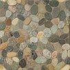 Bedrosians Hemisphere Sliced Pebble Stone Glazed Mosaic Tile in Riverbed