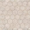 Bedrosians Hexagon Marble Polished Mosaic Tile in Sebastian Gray