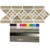 """<strong>Bedrosians</strong> 12"""" x 4.75"""" Stone Mosaic Liner Tile in Amber Gold"""