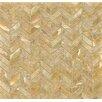 Bedrosians Onyx Chevron Marble Polished Mosaic Tile in Sweet Honey