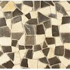 Bedrosians Hemisphere Random Sized Crazy Stone Glazed Mosaic Tile in Baltra Blend