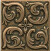 "Bedrosians Ambiance Insert Wave 2"" x 2"" Resin Tile in Bronze"