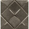 "Bedrosians Ambiance Insert Matrix City 2"" x 2"" Resin Tile in Brushed Nickel"