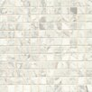 """Bedrosians 1"""" x 1"""" Marble Polished Mosaic Tile in White Carrara"""