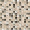 "Bedrosians Interlude Blend 3/4"" x 3/4"" Stone and Glass Mosaic in Stacatto"