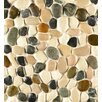 Bedrosians Hemisphere Random Sized Pebble Stone Glazed Mosaic Tile in Malaga Bay