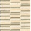 "Bedrosians Tessuto Stacked Blend 4"" x 1/2"" Stone/Glass Mosaic in Beige"