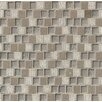 """Bedrosians Tessuto Offset Brick Blend 3/4"""" x 1"""" Stone and Glass Mosaic Tile in Gray"""