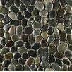 Bedrosians Hemisphere Random Sized Pebble Stone Mosaic Tile in Ocean Black