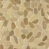 Bedrosians Hemisphere Sliced Pebble Stone Glazed Mosaic Tile in Balboa